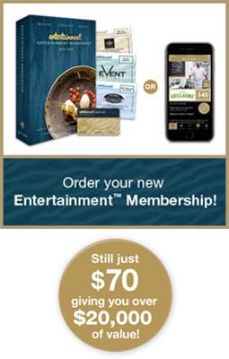 Entertainment Book Offer